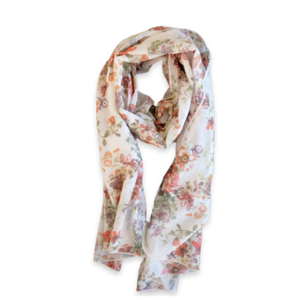 Poppy Floral Scarf, Therapy Threads $70