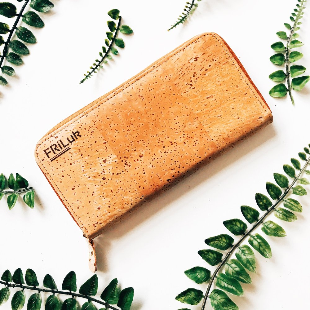 Cork Zip Around Wallet, FRiLuk $36