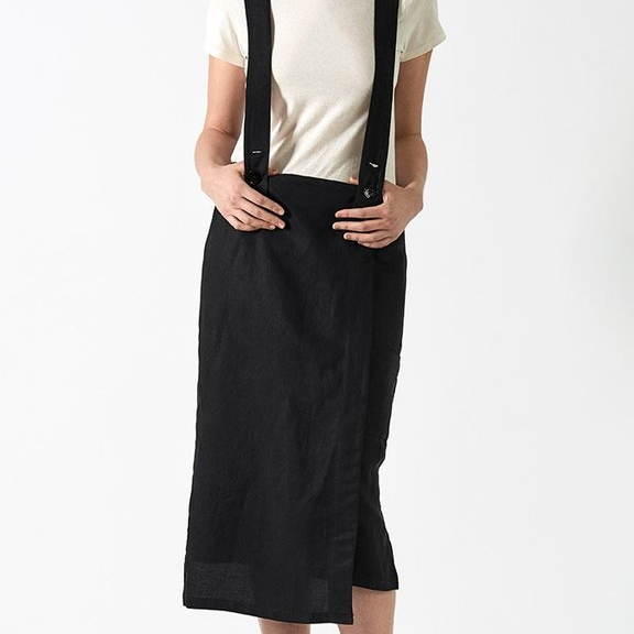 Jacki Overall Skirt, Echo + Air $220 {use code chic20 for 20% off}