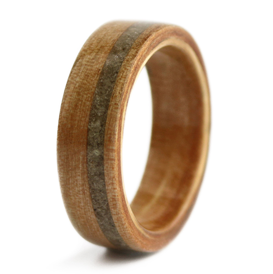 August Birthwood Ring, Simply Wood Rings $265