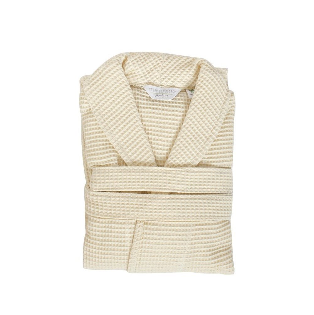 Organic Cotton Waffle Robe, Under the Canopy $50