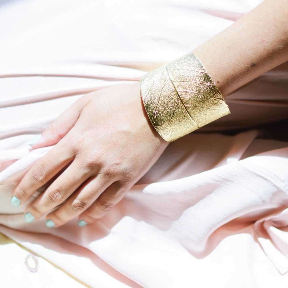 Gold Leaf Bracelet, Simply Nature Bio Goods $279 {use code Chic15 for 15% off}