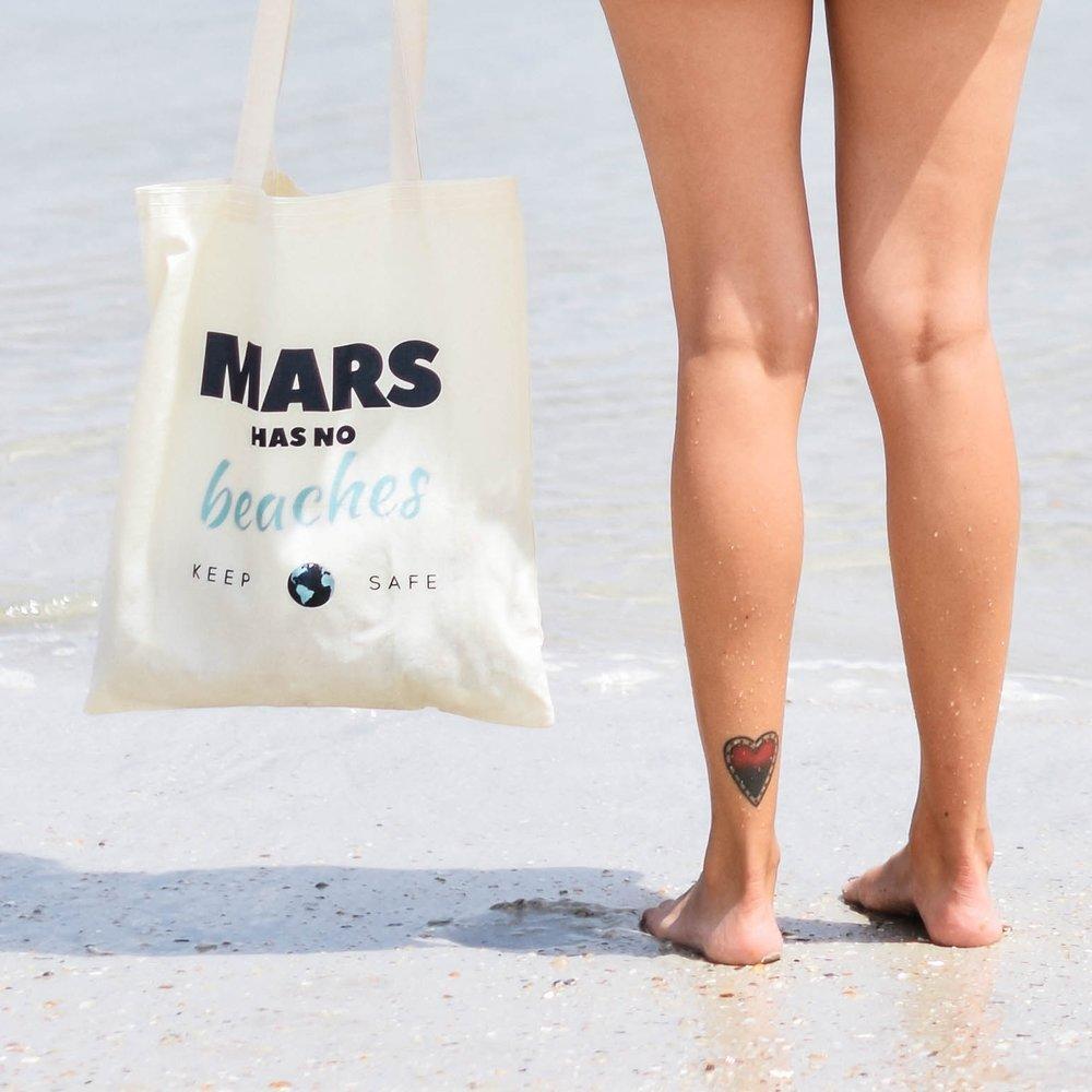 Mars Has No Beaches Tote, pErix $14
