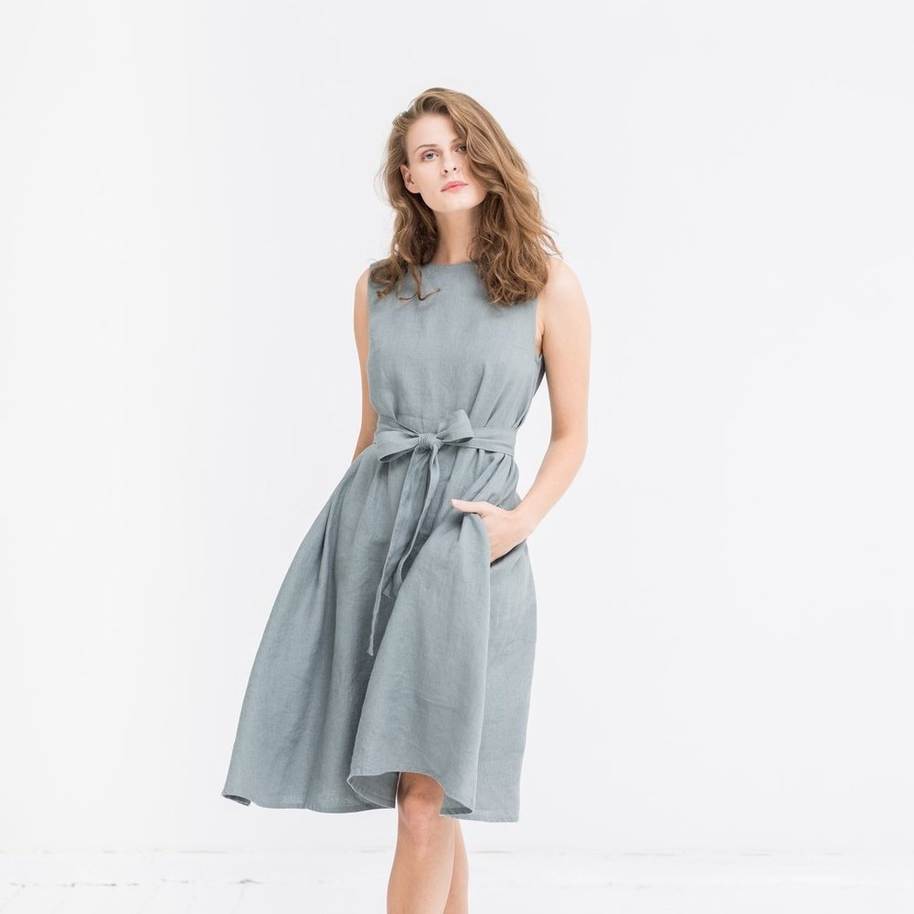 The Adele Linen Dress,Not Gilty$129 {use code SustainablyChic25OFFfor $25 off your entire purchase}