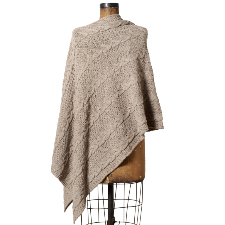 Eco Chunky Cable Poncho, in2green $130 *use code schic20off for 20% off*