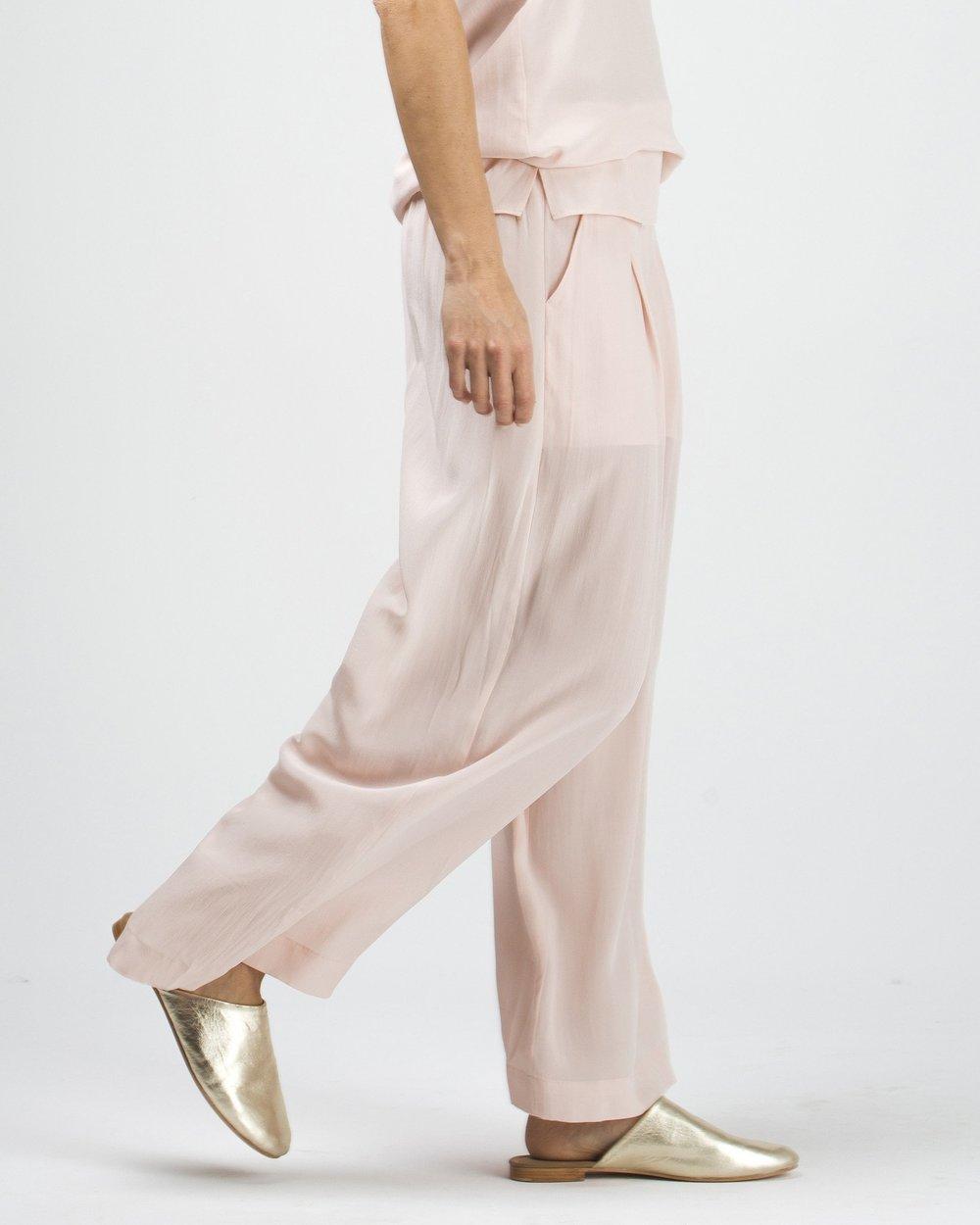 Silk Wide Leg Pant   {$144}