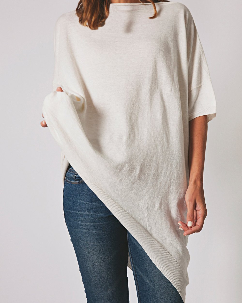 French Linen Oversized Tee   {$160}
