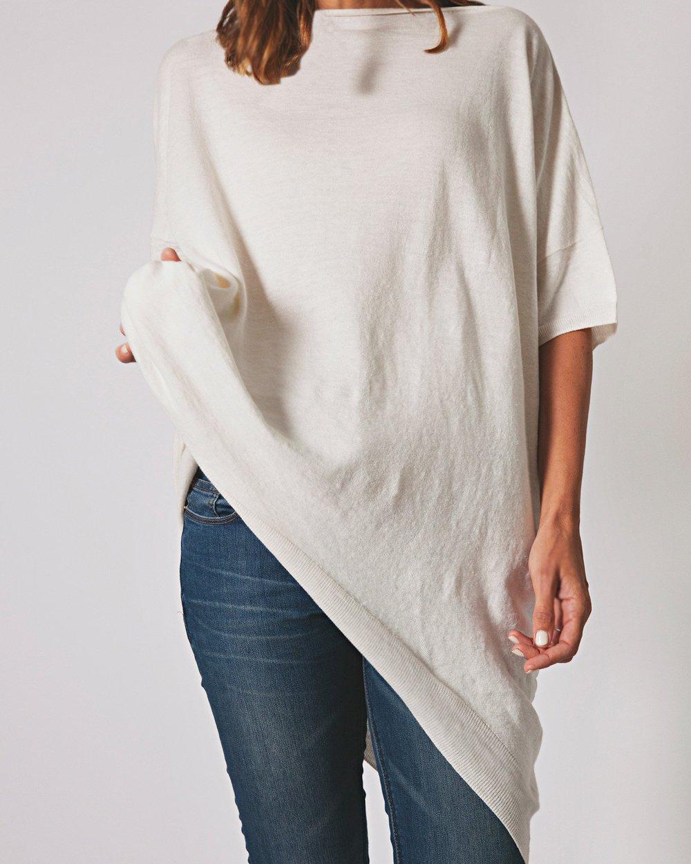French Linen Oversized Tee   {$160}
