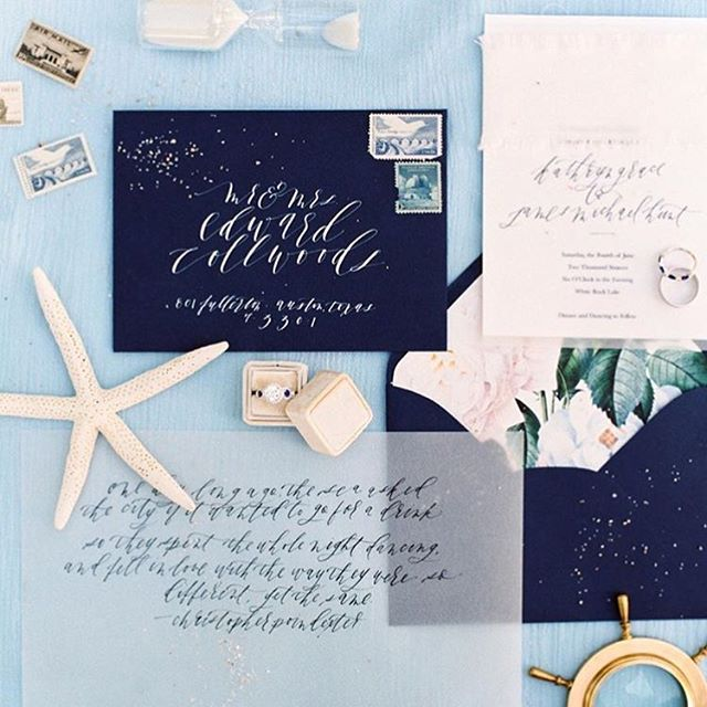 🙌🙌These nautical papers were featured on Style Me Pretty over the weekend... Check out their blog to see more!