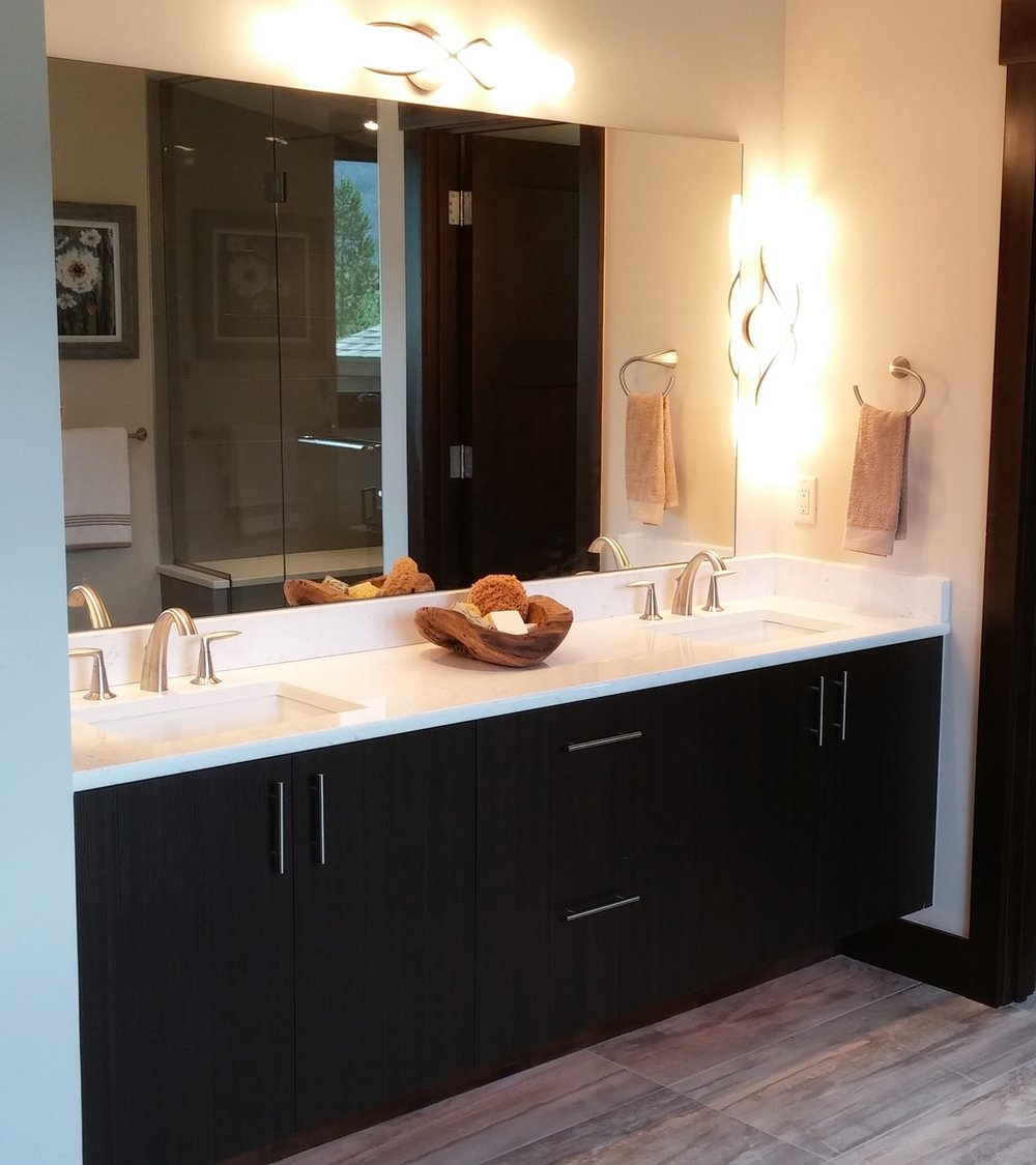 Melamine Bath Custom Cabinetry