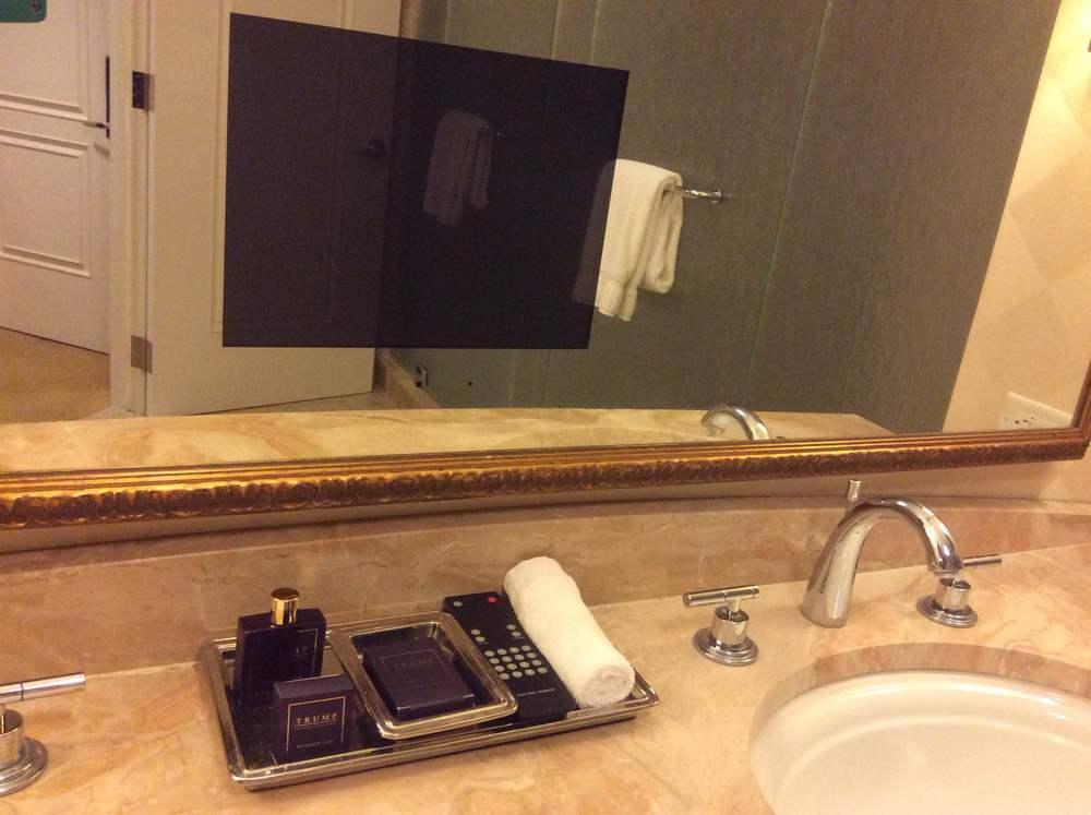 It's a mirror TV!