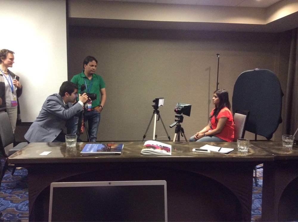 speaker demonstration during the photography workshop