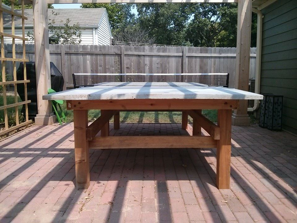 How to Build a Concrete Ping Pong Table