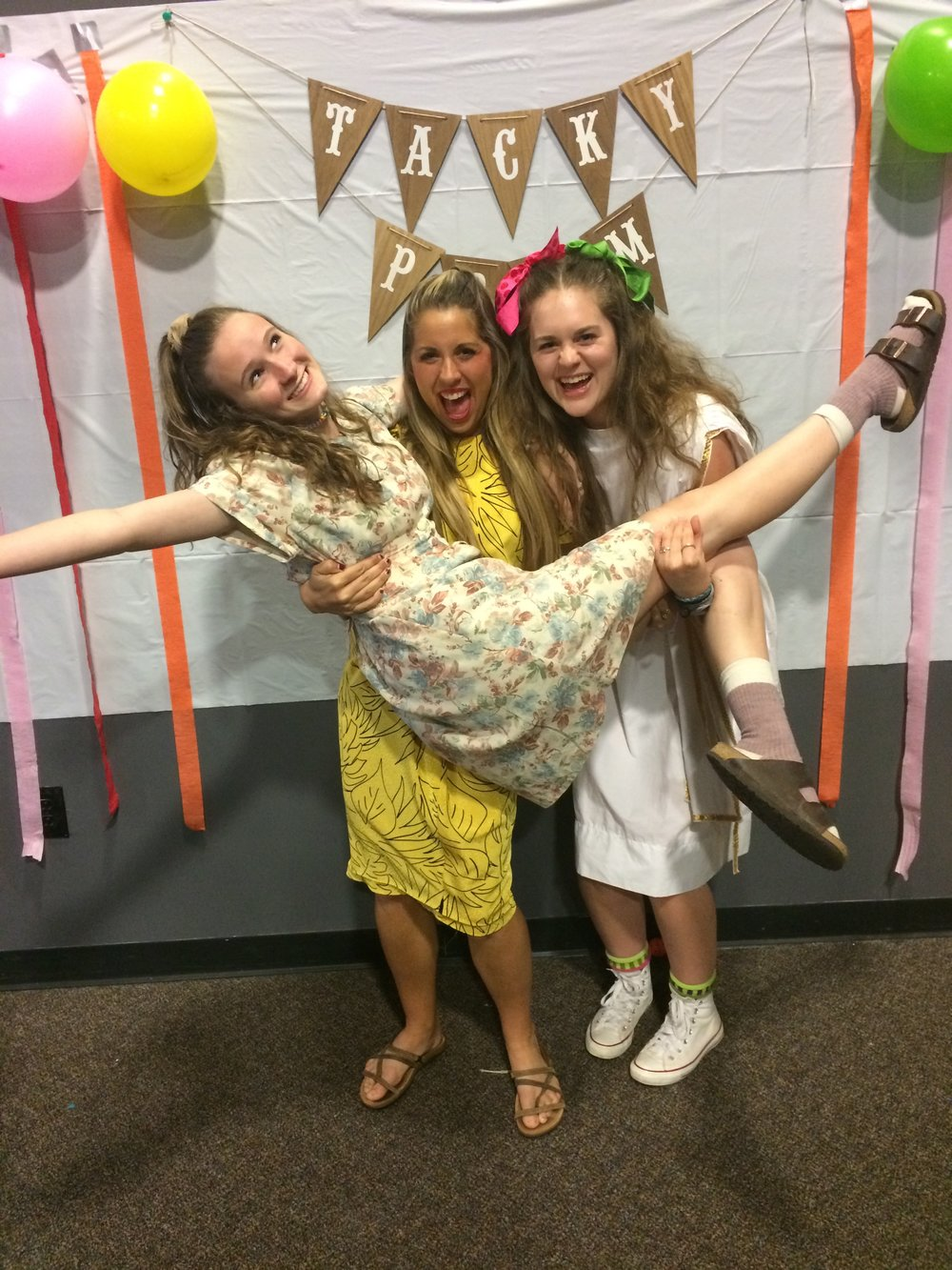 YoungLife Tacky Prom with some gems.