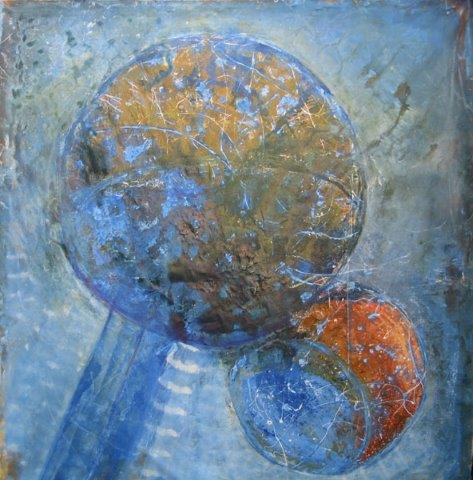 Globe & Satellite  2000 Measurements: 200 x 200 cm