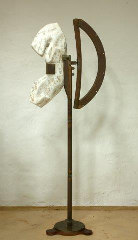 Amazon Toso  1979 Materials: marble, bronze Measurements: 200 x 90 x 60 cm