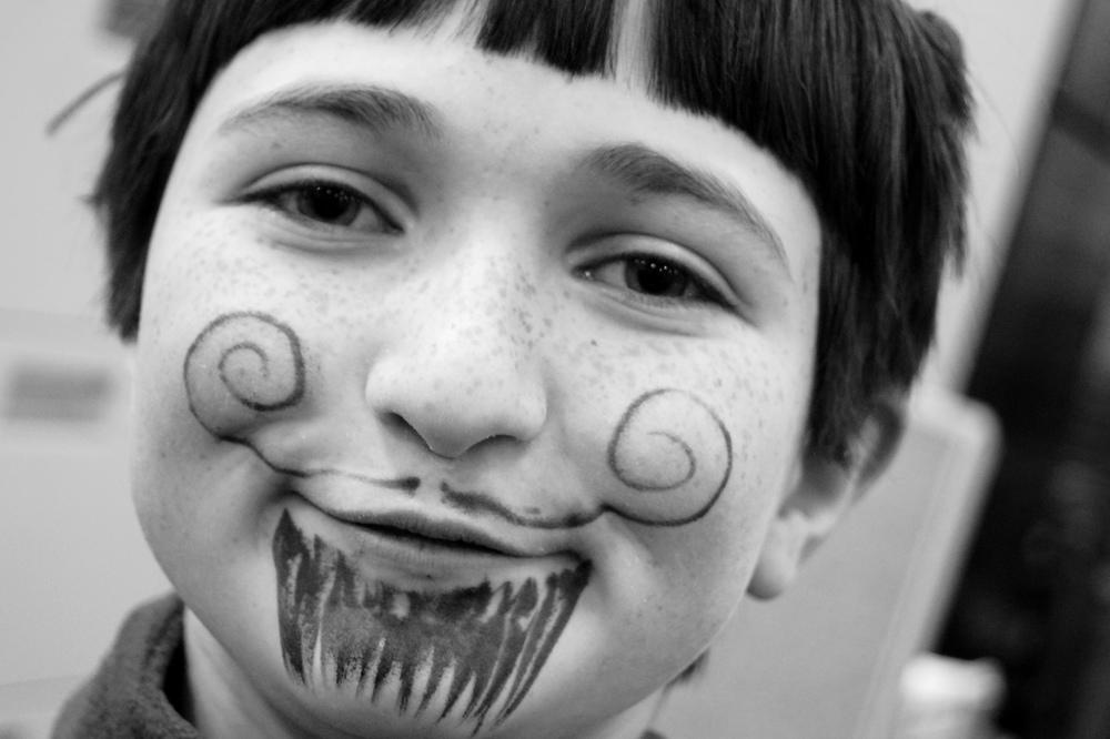 I Mustache You, Portrait; Age 9