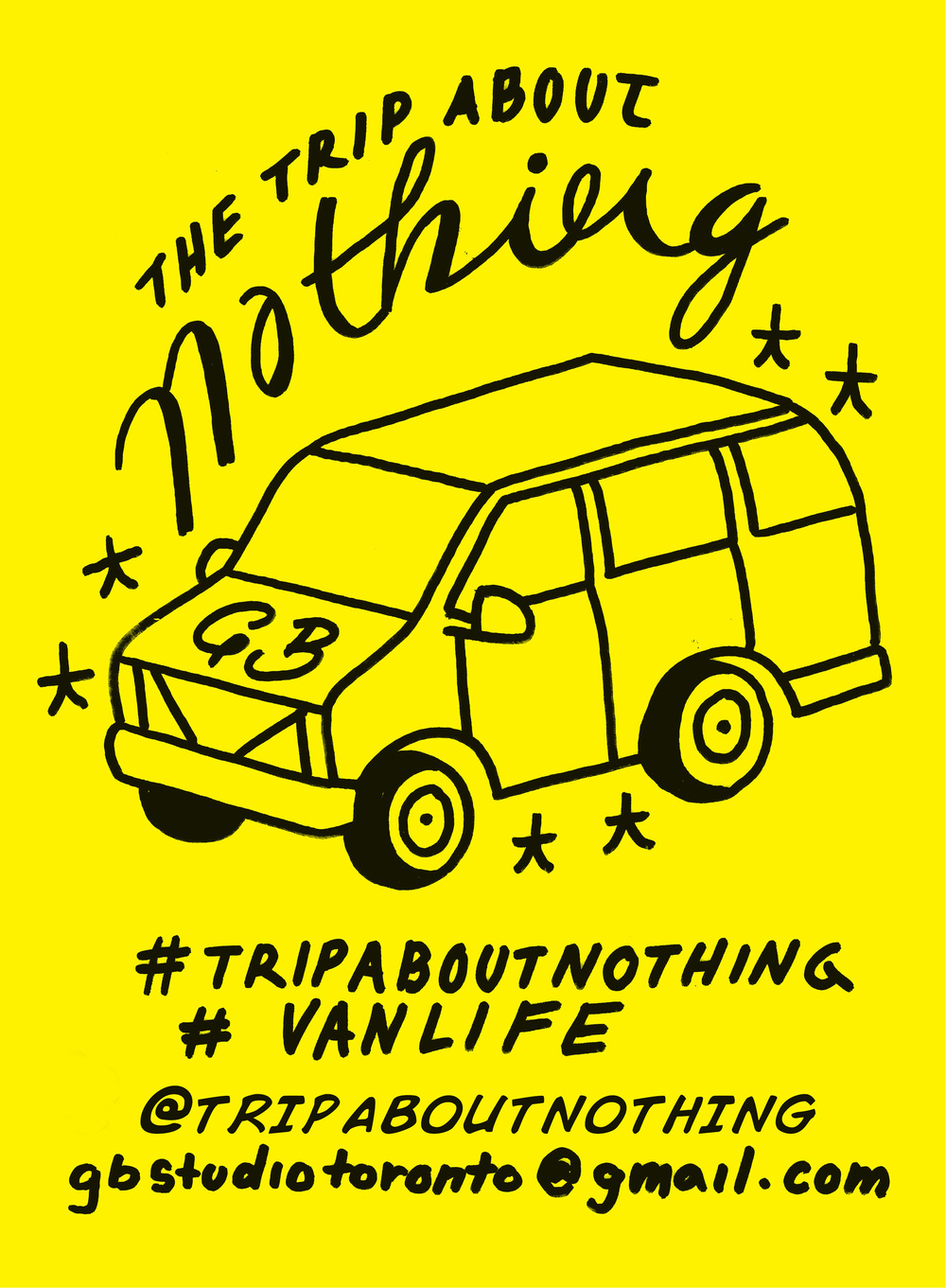 I have been seeking out vans scattered around Toronto and putting these flyers on the dashboards to spread the word about my project. Vanlife and the mobile community seem to really stick together so I figured they'd be interested in keeping up with a fellow vanlifer!