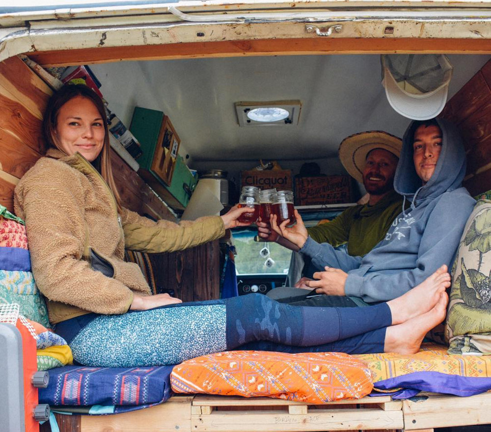 @vanlifediaries   We're all smiles around here! 🍻 to the first Vanlife Diaries x Tiny House, Tiny Footprint podcast. Tune in as we interview   @alifeonland   about their renovated postal van. Thank you   @ratiobeerworks   for the brews.#vanlifediaries and we deliver.