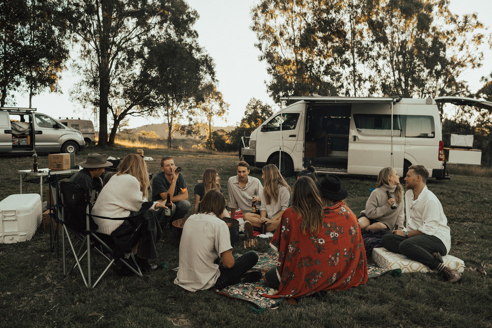 Tasi Travels Camping at Bluff Creek Campground Property