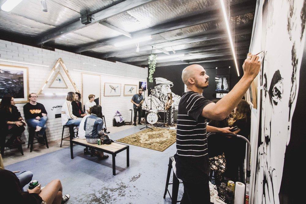 Grant Moloney art space & live art Photo: @haydenseyes