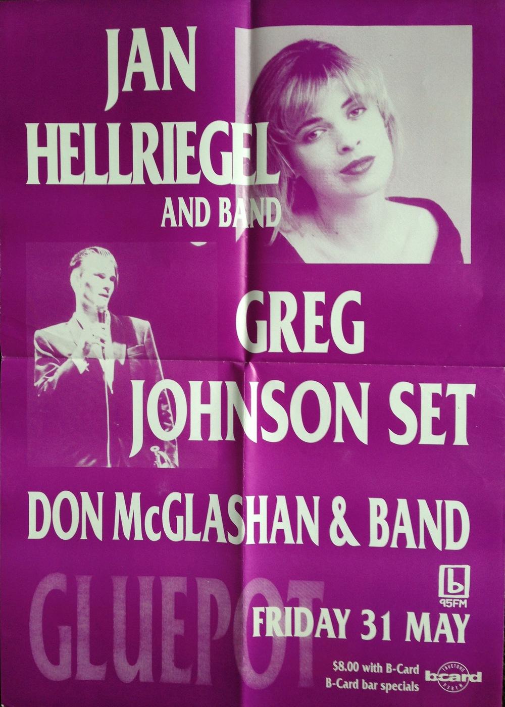 Gluepot Poster - 1990