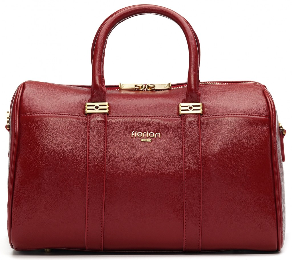 FLORIAN LONDON FAITH LEATHER TOTE IN RED PRICE:  £265.00 £185.50  30% OFF