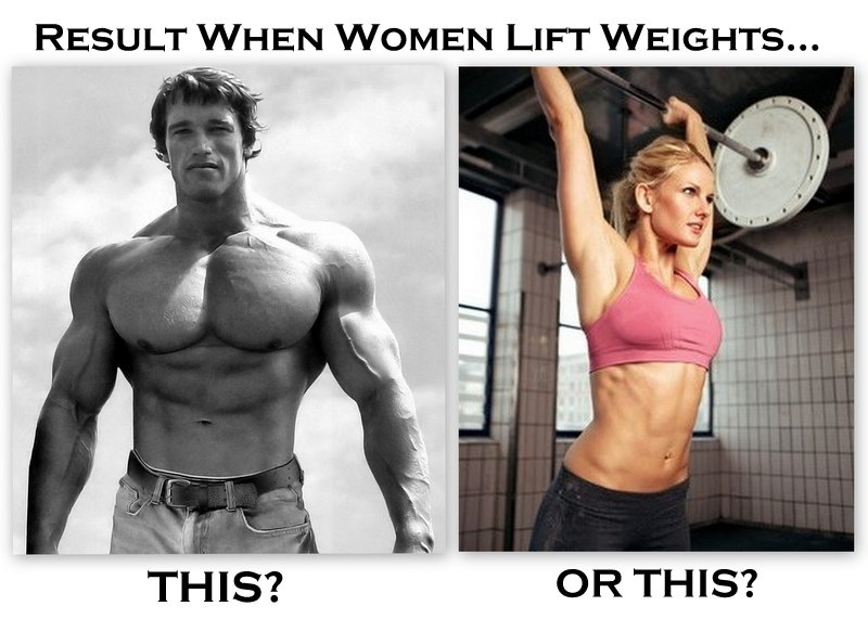 Muscular Man versus Lean, Sexy Woman