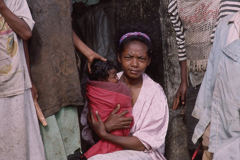 Woman & Child in Madagascar by Reporter Photographer - Olivier Martel