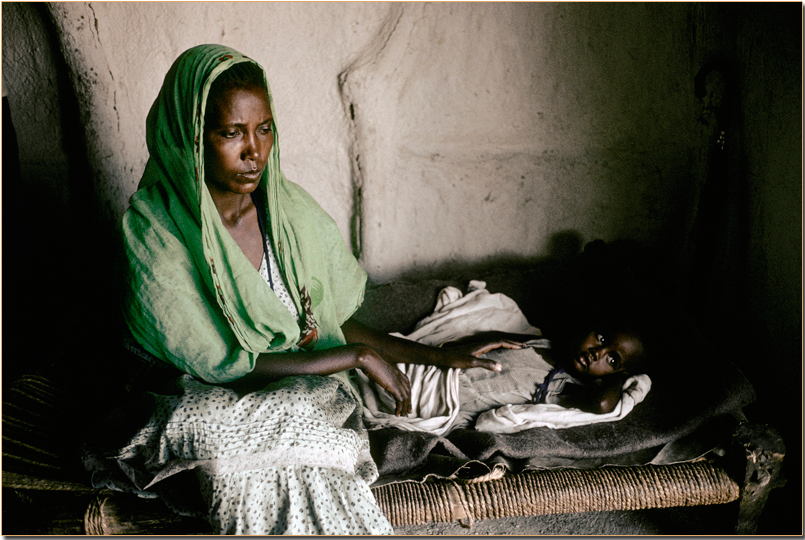 Woman & Child in Ethiopia by Reporter Photographer - Olivier Martel
