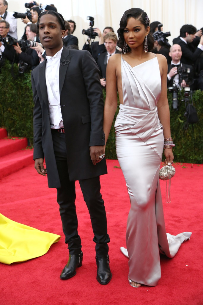 ASAP Rocky in Topman and Chanel Iman in Topshop.