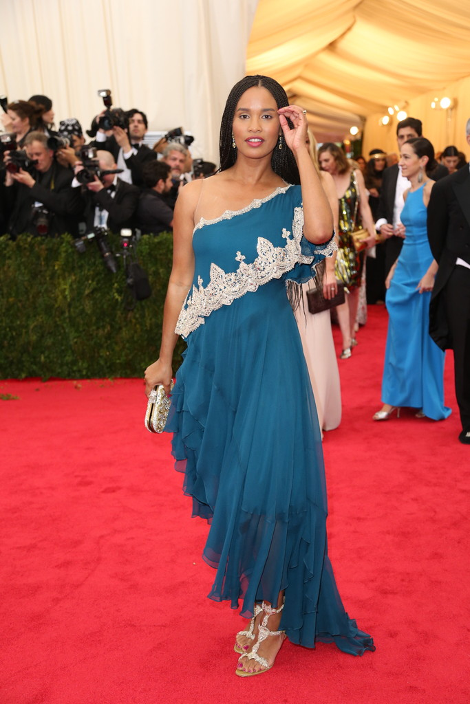 Joy Bryant in Marchesa.  Josh Haner:The New York Times