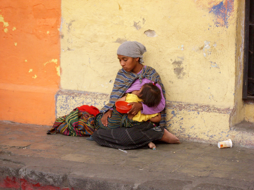 Breastfeeding in the streets of Antigua