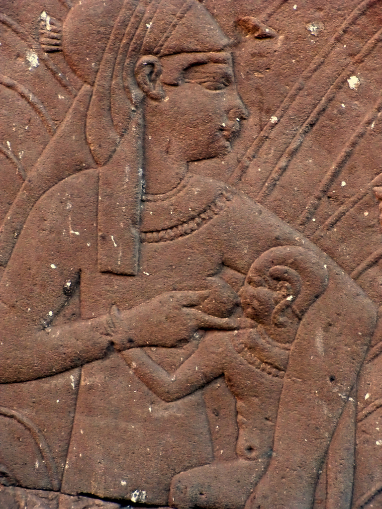 Isis breast-feeding young Horus