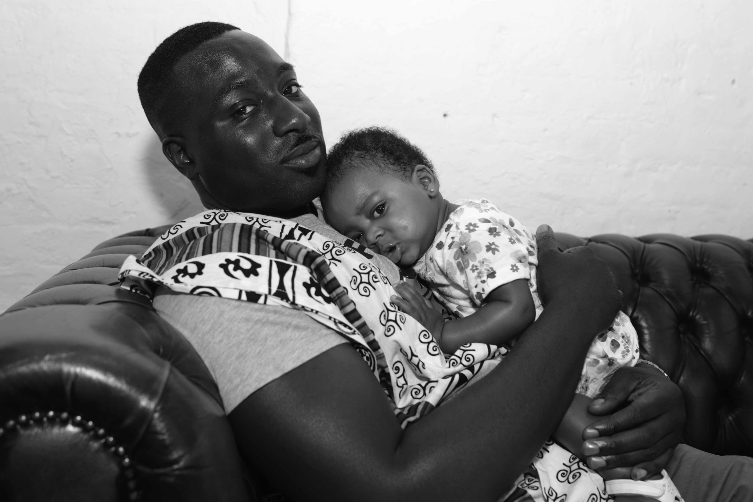Alfred Mante and babygirl Jamila / Photography by Sanaa AbstraKt