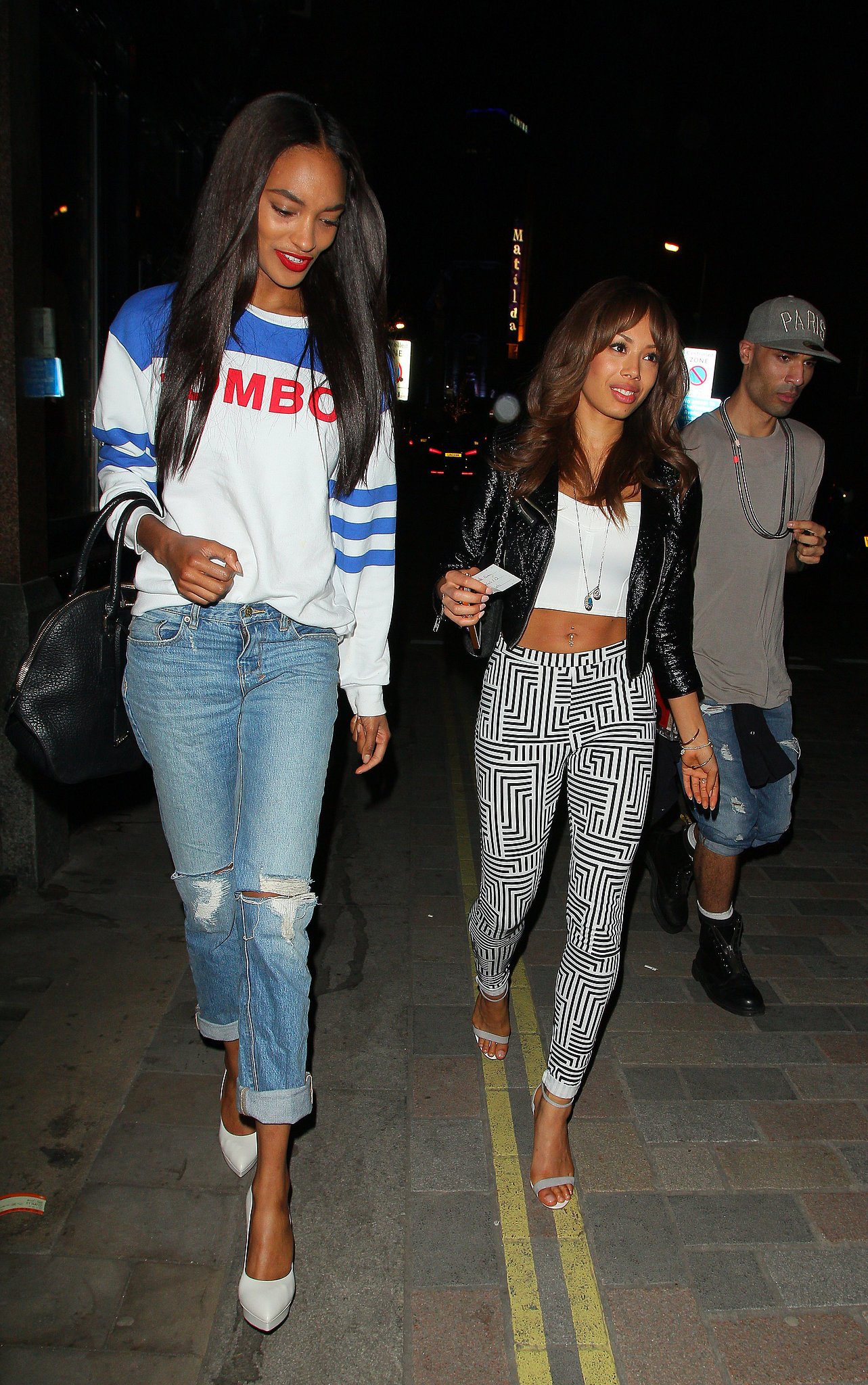 Jourdan Dunn in a minimal ripped jean  / Photo Source: popsugar.com