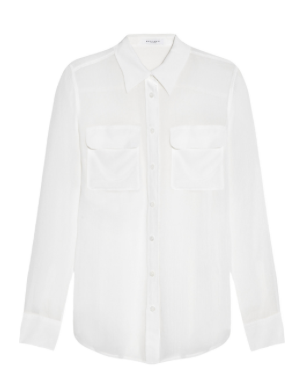 EQUIPMENT Slim Signature, Crinkled Silk-Chiffon Shirt