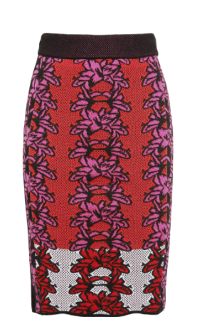 M MISSONI Floral-Intarsia Cotton Blend Pencil Skirt £368