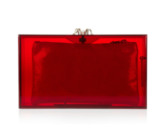 CHARLOTTE OLYMPIA Pandora Perspex clutch £625