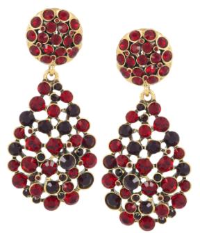 OSCAR DE LA RENTA 24 Karat Gold Plated Crystal Clip Earrings £330