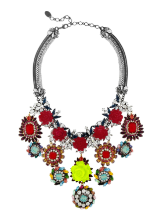 ERICKSON BEAMON 'I Never Promised You A Rose Garden, Gold Plated Swarovski Crystal Necklace £1,325