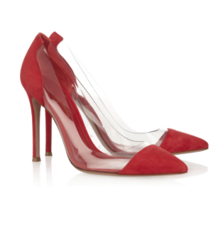 GIANVITO ROSSI Suede and PVC Pumps £430