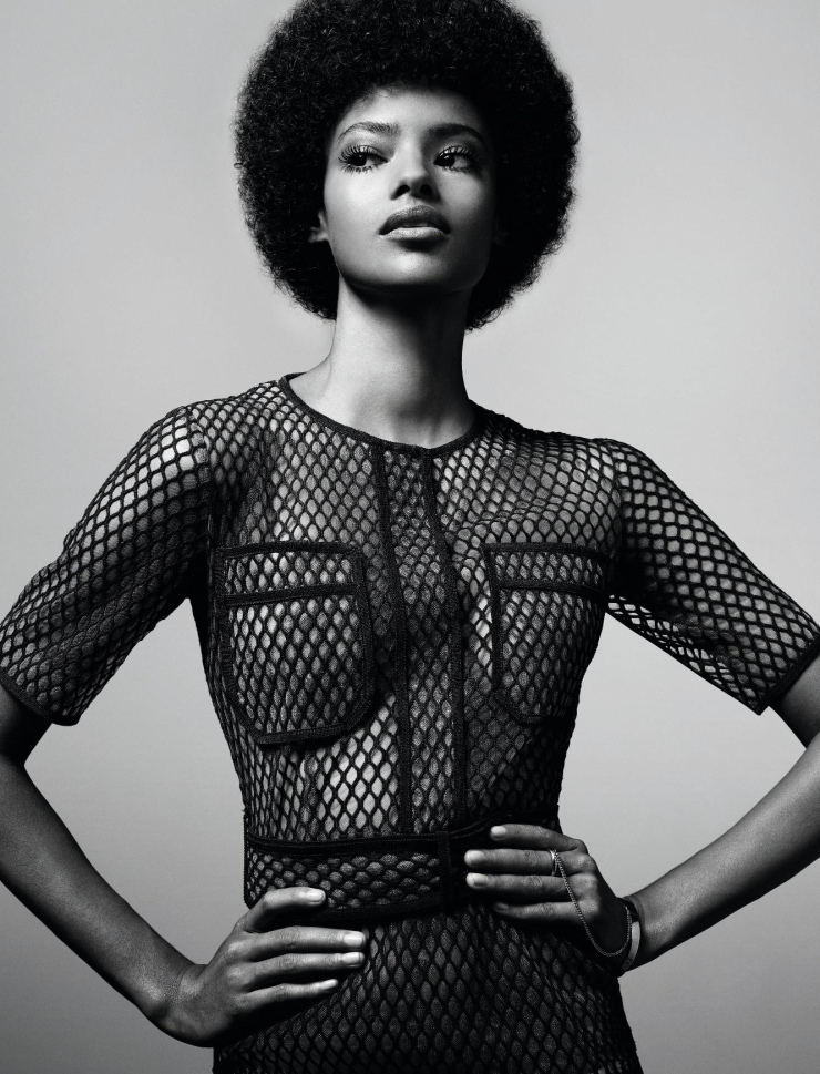 FILET DE PEAU - Malaika Firth by Jean-Baptiste Mondino for Elle France March 2015
