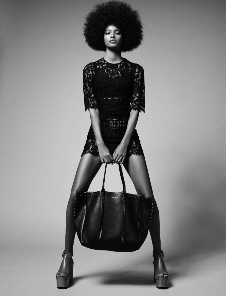 DENTELLE INGENUE - Malaika Firth by Jean-Baptiste Mondino for Elle France March 2015