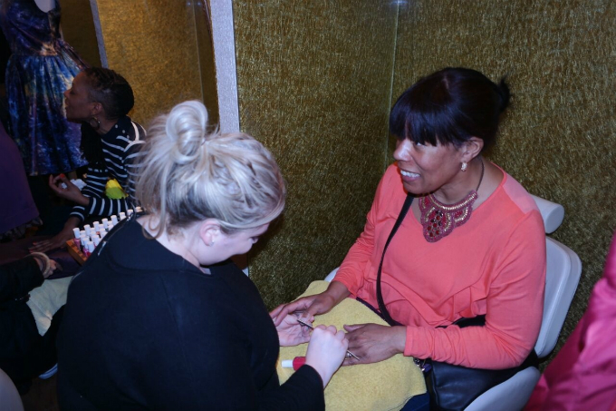Event attendees were invited to sample a pamper treatment