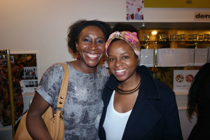 Ronke Adeyemi of brownbeauty blog and Keysha Davis of Black Hair Magazine