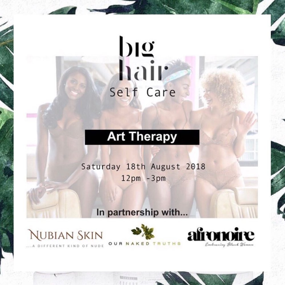 Be sure to... - RSVP to Big Hair's upcoming self-care event through art therapy. Follow the brand on Instagram + Twitter and join the community on Facebook. Shop the brand on bighair.co.uk