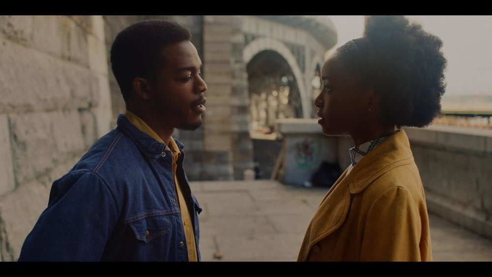 Kiki Layne (Tish) and Stephan James (Fonny) in  If Beale Street Could Talk