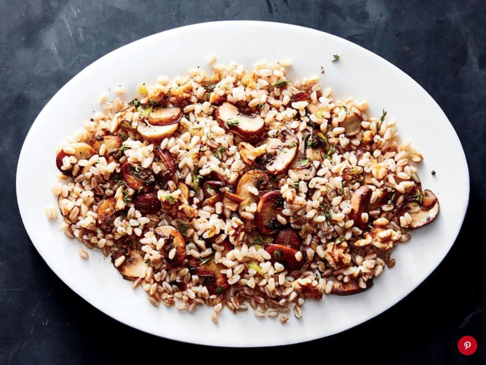 Farro, Mushroom, & Walnut Pilaf