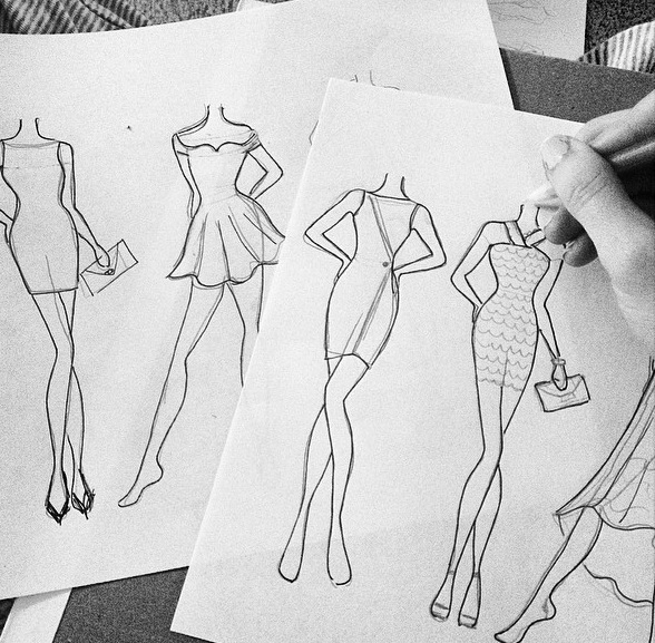 Pageant Dresses Drawing
